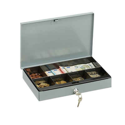 relaxdays Geldkassette »Geldkassette abschließbar«