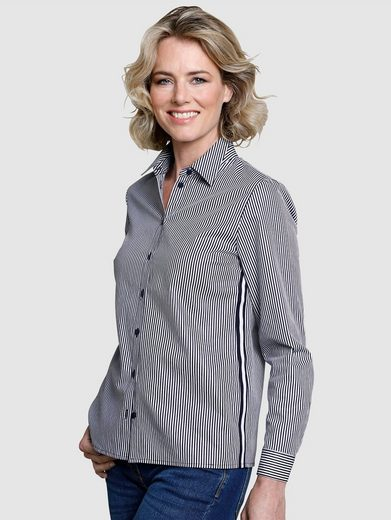 Dress In Bluse in Streifendessin