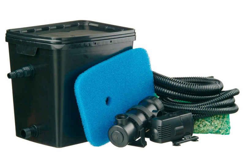 Ubbink Teichfilter »Filtra Pure 4000 Plus« (Set, Teichfilter (35 W); Teichpumpe (1.600 l/h); UVC-Gerät (9 W); Filterschwamm; Filtermedien; 2 Schläuche (3 m, 1 m); Schlauchklemme; Anschlussmaterial)