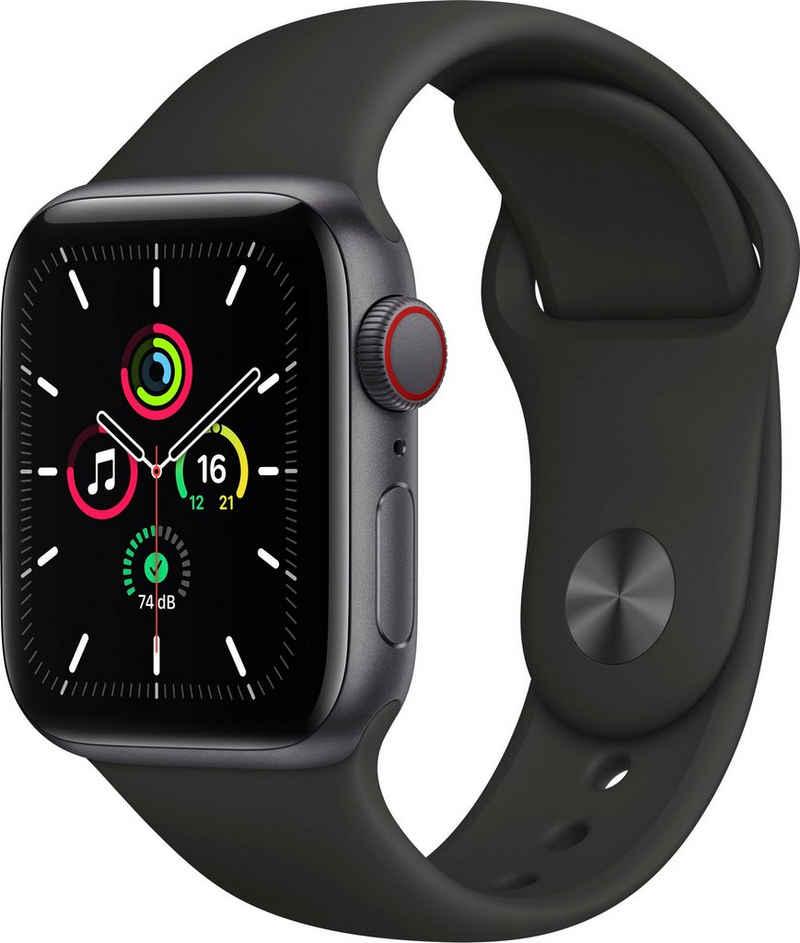 Apple SE GPS + Cellular, Aluminiumgehäuse mit Sportarmband 40mm Watch, inkl. Ladestation (magnetisches Ladekabel)