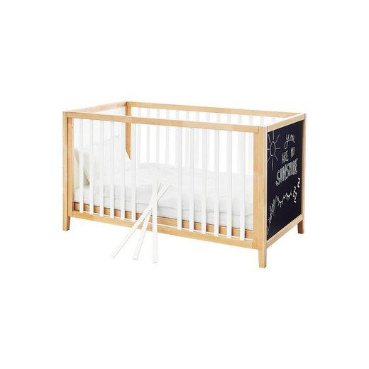Pinolino® Kinderbett Calimero, weiß lackiert, Buche, 70 x 140 cm