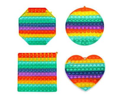 C&T Spiel, »Regenbogen groß - Pop It Bubble Push Plop Up Fidget - 20 cm - Anti-Stress Spiel«