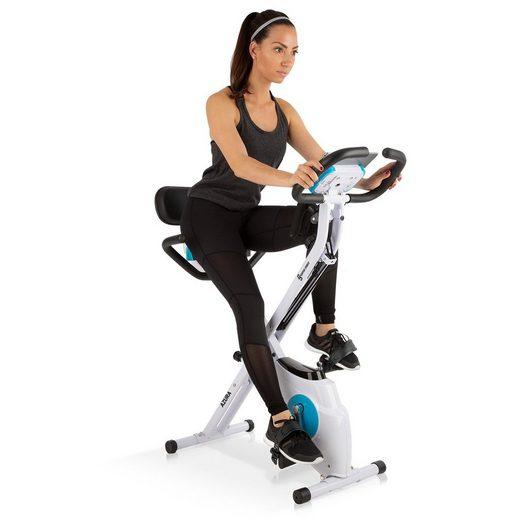Capital Sports Fahrradtrainer »Azura M3 Pro Heimtrainer, flexible Zugbänder, Riemenantrieb, weiß«