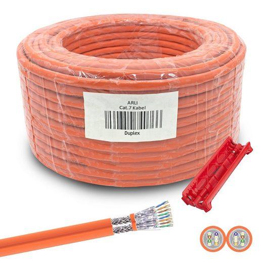 ARLI Installationskabel, (5000 cm), Cat7 Verlegekabel Duplex Netzwerkkabel Netzwerk Kabel + Universal Abisoliermesser