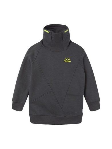 TOM TAILOR Sweatjacke »Sweatshirt mit Stehkragen«