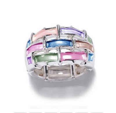 Mein Style Fingerring »elastischer Ring bunt RM 005«, elastischer Ring, geeignet für mehrere Ringgrößen