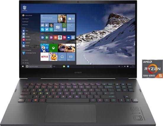 OMEN 16-c0253ng Gaming-Notebook (40,9 cm/16,1 Zoll, AMD Ryzen 5, GeForce RTX™ 3050 Ti, 512 GB SSD, Kostenloses Upgrade auf Windows 11, sobald verfügbar)