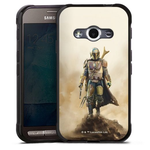 DeinDesign Handyhülle »The Mandalorian Rock« Samsung Galaxy Xcover 3, Hülle Star Wars Film The Mandalorian