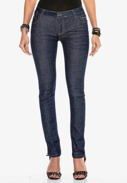 Hosen - Cipo Baxx Straight Jeans in modischem Straight Fit Schnitt ›  - Onlineshop OTTO