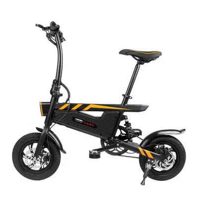 ZI YOU JI GUANG E-Bike »T18«, 1 Gang, Nabenschaltung, Heckmotor 350,00 W, (Mit Batterieladegerät), Doppelscheibenbremsen, mit Stoßdämpfung, IP54 wasserdicht, drei Fahrmodi