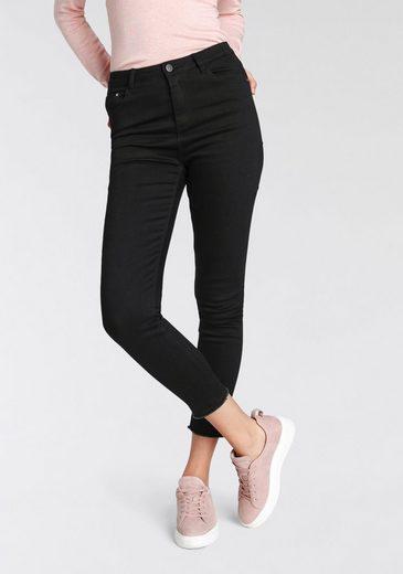 HaILY'S High-waist-Jeans mit trendy Fransensaum
