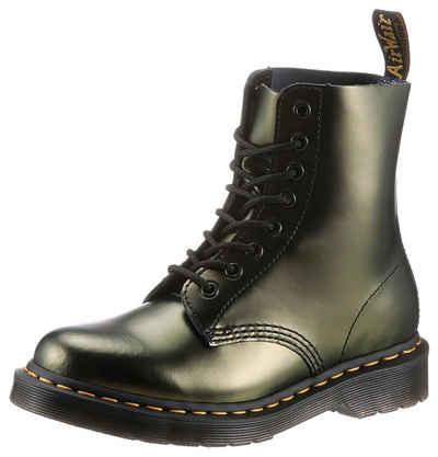 DR. MARTENS »1460 Pascal 8 Eye Boot« Schnürstiefel im Metallic Look