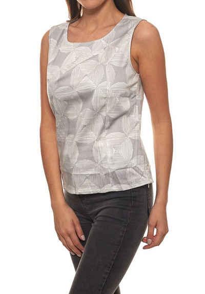 Heine Shirttop »rick cardona Top Druck-Top schönes Damen Business-Top Ausgeh-Shirt mit Drapierung Grau«