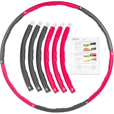 ONVAYA Hula-Hoop-Reifen »ONVAYA® Hula Hoop Reifen Fitness für Erwachsene, Fitnessreifen für Hula Hoop Workouts, Hula Hoop zum Abnehmen, 1,3 kg Gewicht, Wellendesign für Massage-Effekt«