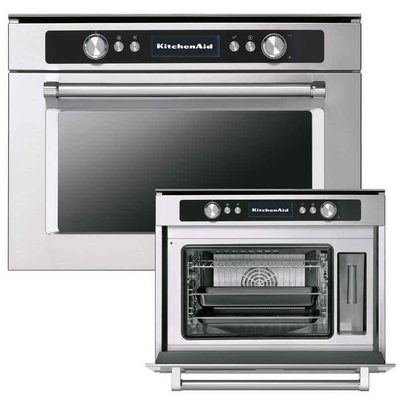 KitchenAid Einbau-Dampfgarer KOSCX 45600, Reiner Dampf, Eingebaut, Inox, Hervorstehende Knöpfe und Tasten