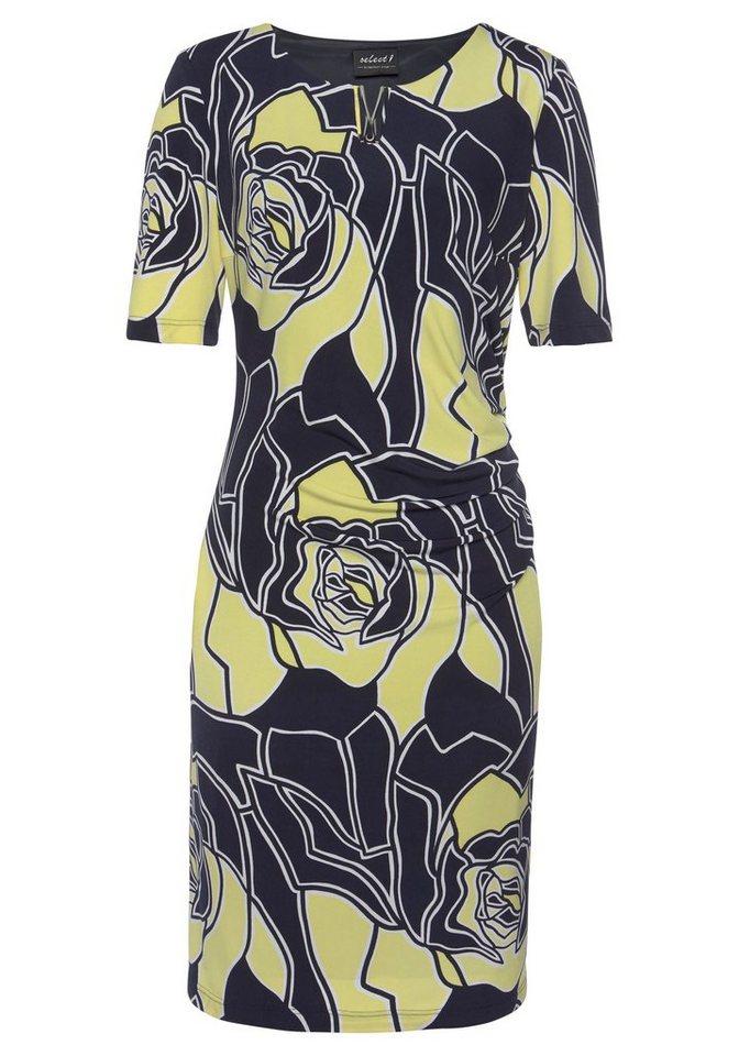 hermann lange collection -  Jerseykleid in schlichter Form mit tollem Blumen-Allover-Druck