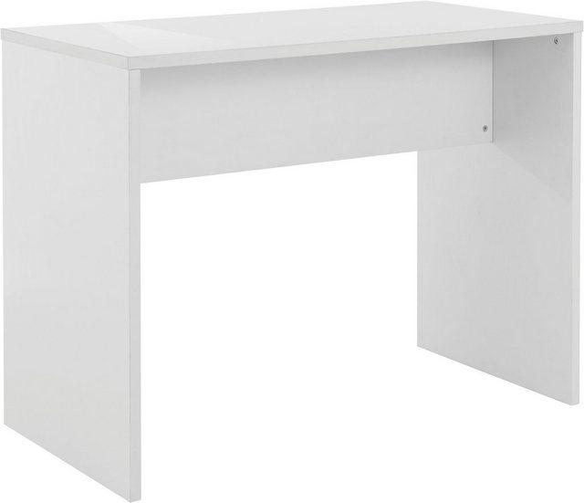 Barmöbel - INOSIGN Bartisch »Anoush«, mit einer folierten Tischplatte weiß hochglänzend, Kufengestell in weiß hochglänzend, Höhe bis Tischunterkante 87,5 cm, Tischhöhe 90 cm  - Onlineshop OTTO