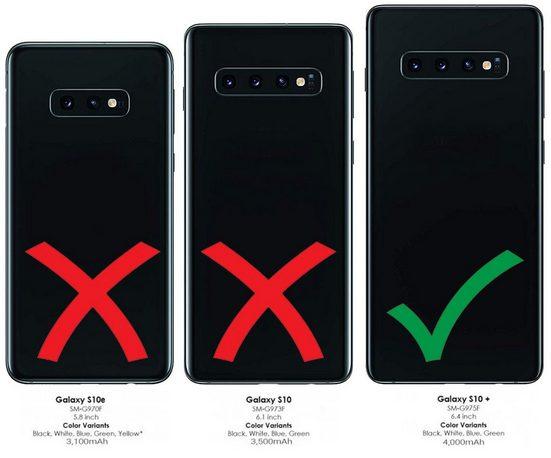 Burkley Flip Case »Samsung Galaxy S10 Plus Leder Handyhülle Book Case«