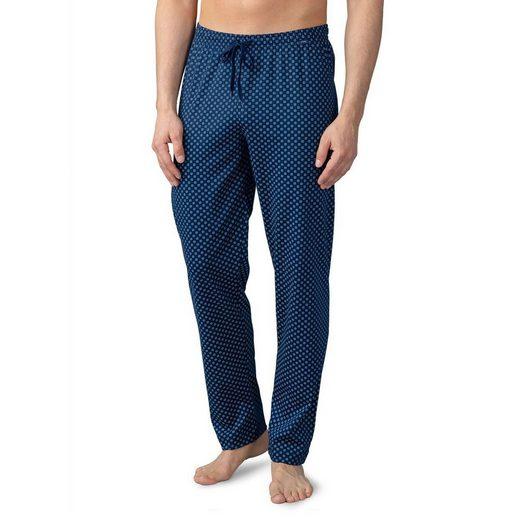Mey Schlafhose »Basic Lounge Nightwear Mix & Match Hose lang« Komfortbund mit Kordelzug, Mit Minimalprint, Legere Passform