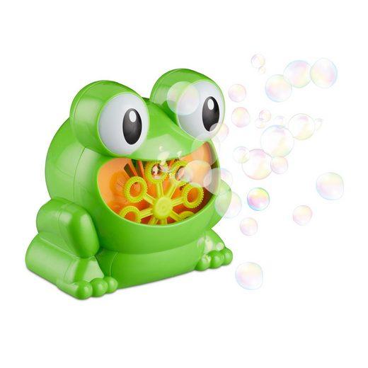 """relaxdays Seifenblasenmaschine »Seifenblasenmaschine """"Frosch"""" 13 cm«"""