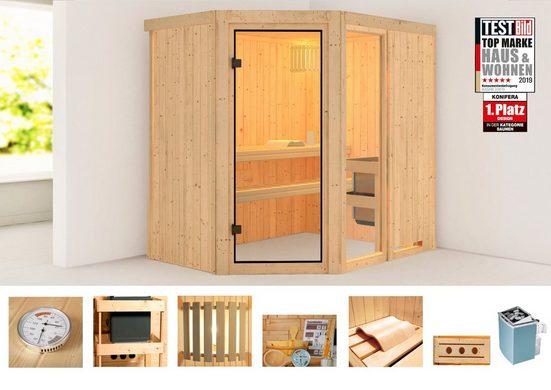 KONIFERA Sauna »Berga 1«, 196x151x198 cm, 9 kW Ofen mit int. Steuerung