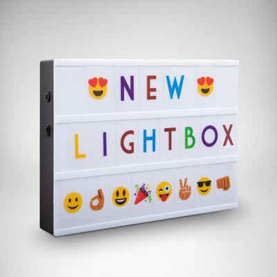 B.K.Licht LED Lichtbox »AURORA BUNT«, LED Lightbox Leuchtkasten A4 Bunt USB Buchstaben Emojis Lichtbox Letterbox Deko