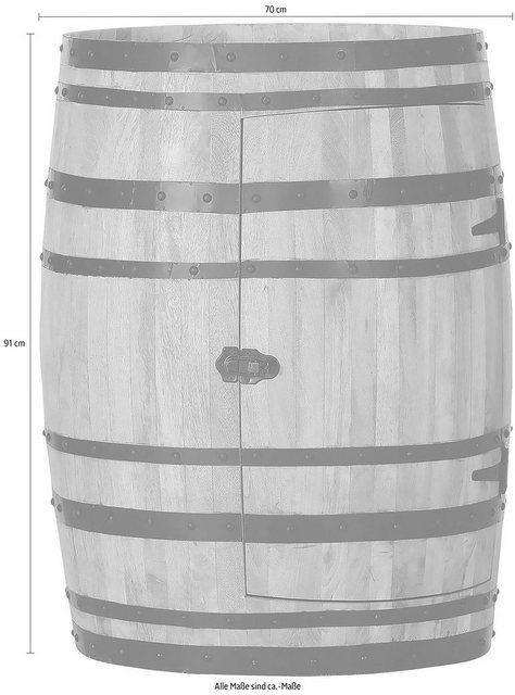 Barmöbel - Gutmann Factory Bartisch, Dekofass, originelle Aufbewahrung für Gläser und Flaschen, Hausbar  - Onlineshop OTTO