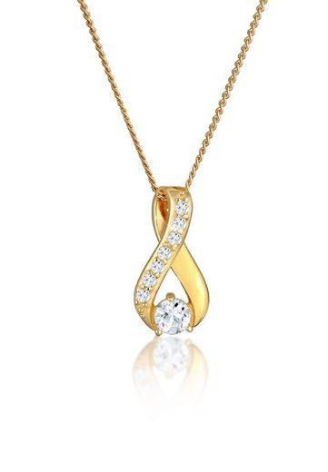 Elli Collierkettchen »Infinity Symbol Topas 585 Gelbgold«