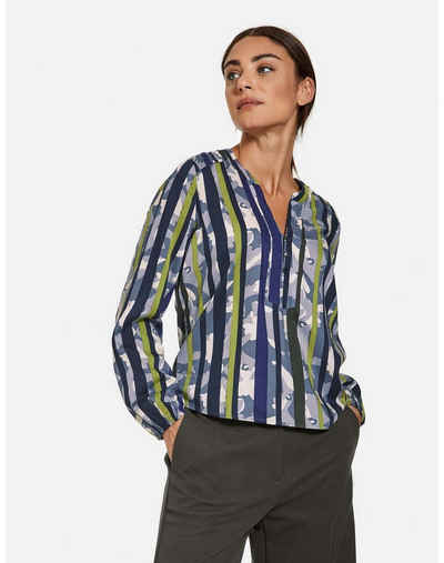 Taifun Langarmbluse »Bluse mit halber Knopfleiste EcoVero« Blusenshirts