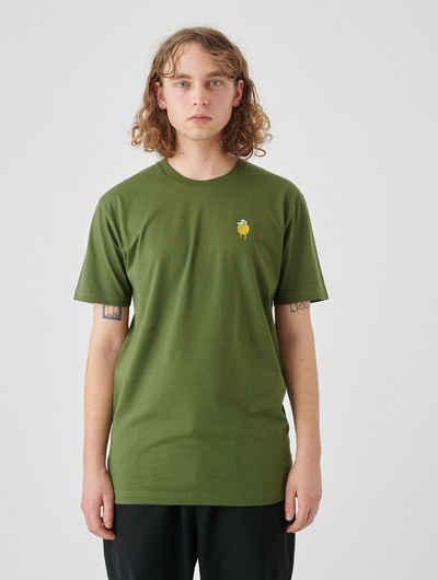 Cleptomanicx T-Shirt »Zitrone« Zitrone-Stickerei auf der Brust