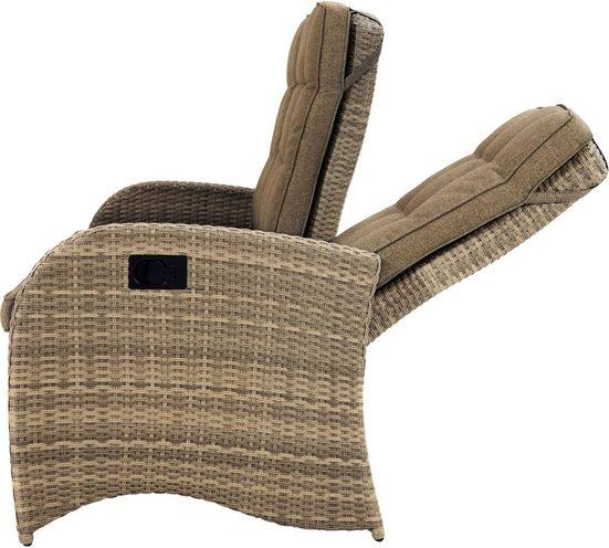 PLOSS Gartenmöbelset »Rabida / Rocking«, 14-tlg., 3er Sofa, 3 Sessel, Tisch 220x100 cm, Polyrattan
