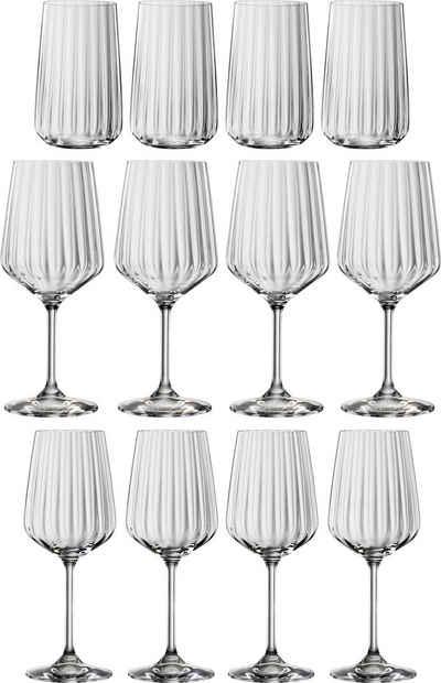 SPIEGELAU Gläser-Set »Life Style«, Kristallglas, 12-teilig, Reliefstruktur