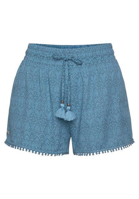Hosen - Ragwear Shorts »ANIKO« im Ethno Design mit Quasten Besatz › blau  - Onlineshop OTTO