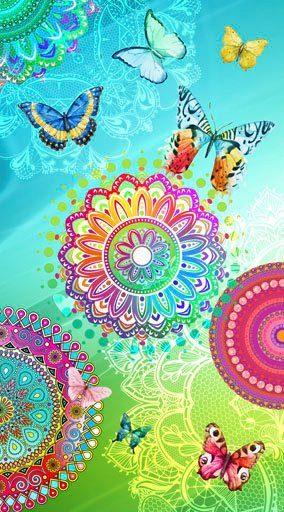 hip Strandtuch »Mystic« (1-St), mit Mandalas und Schmetterlingen