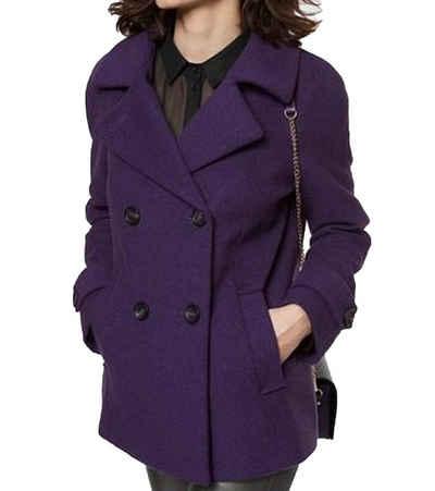 GUIDO MARIA KRETSCHMER Wintermantel »GUIDO MARIA KRETSCHMER Caban-Jacke kuschelige Damen Woll-Jacke Trend-Jacke Violett«