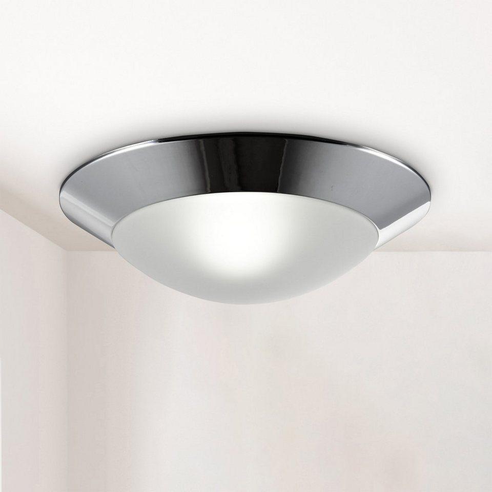 B.K.Licht LED Deckenleuchte, LED Bad Deckenlampe Glas E20 IP20 ...
