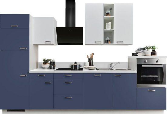 Express Küchen Küchenzeile »Bari«, ohne E-Geräte, mit Soft-Close-Funktion und Vollauszügen, vormontiert, Breite 340 cm