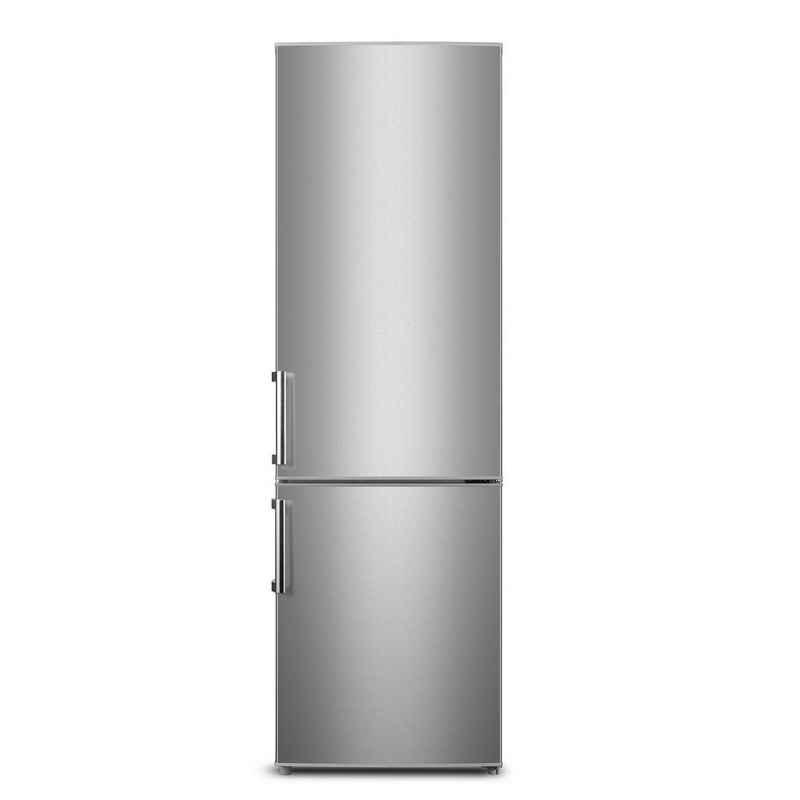 Wolkenstein Kühl-/Gefrierkombination KGK 280 A+++, 180 cm hoch, 55.4 cm breit, Kühl-Gefrierkombination, Inox Design, Beleuchtung im Kühlraum, Glasablagen, wechselbarer Türanschlag