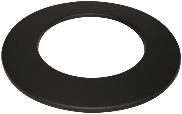 Justus Rosette 150 mm schwarz