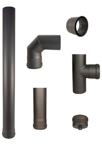 Color Emajl Ofenrohr 80 mm 100 cm ilgis Stahl