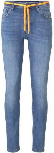 TOM TAILOR Denim 5-Pocket-Jeans »Piers« mit orangenem Kordelband