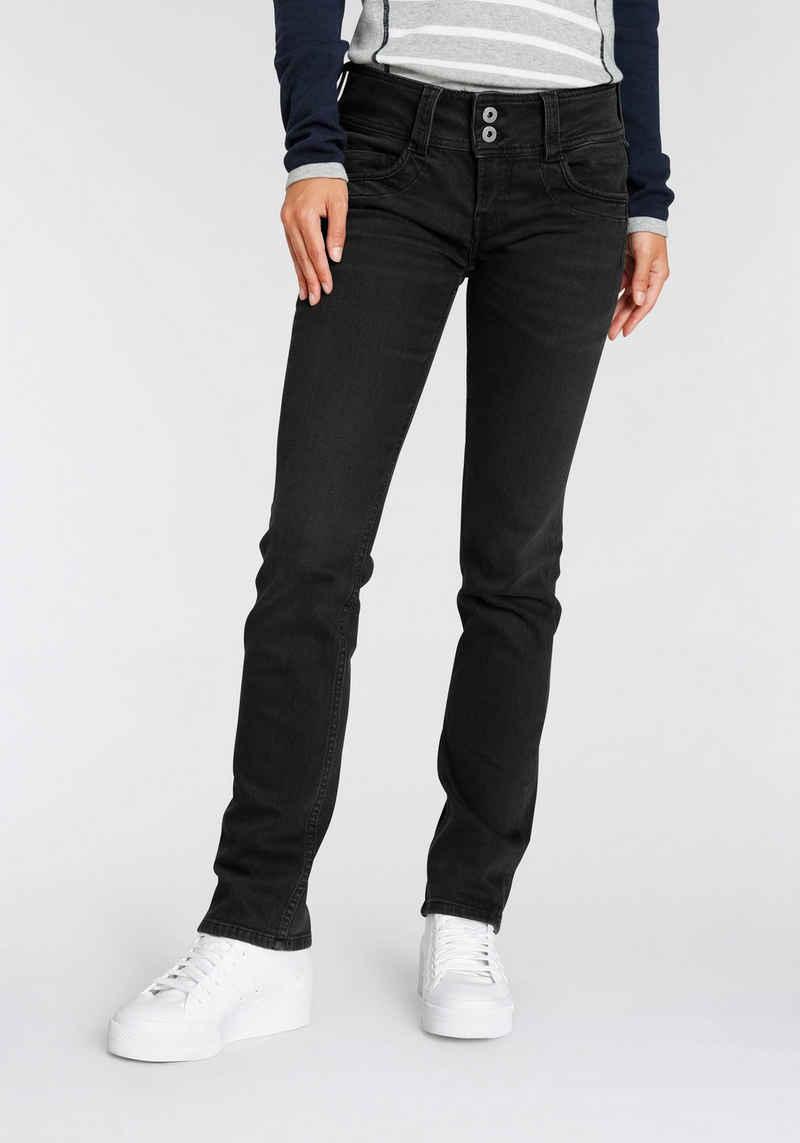 Pepe Jeans 5-Pocket-Hose »GEN« in schöner Qualtät mit geradem Bein und Doppel-Knopf-Bund