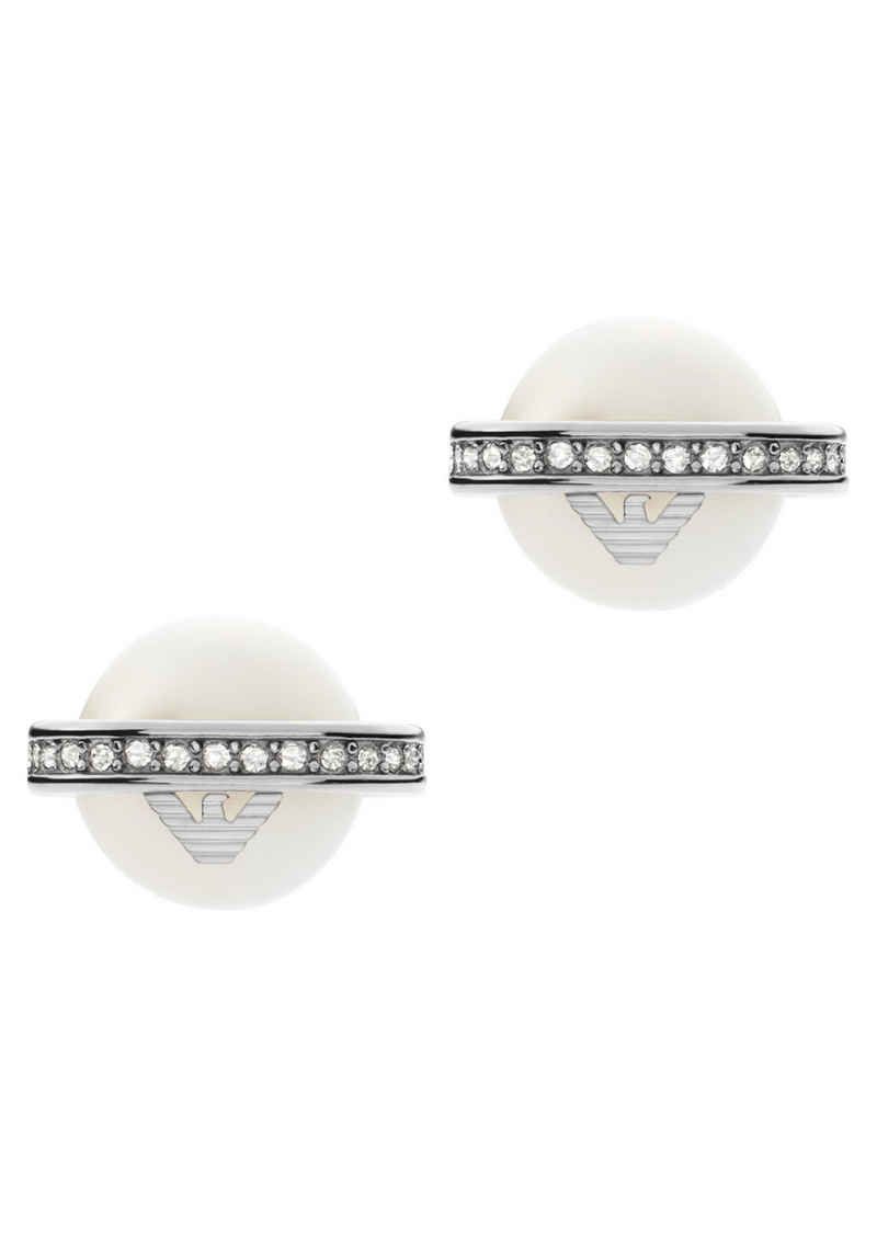 Emporio Armani Paar Ohrstecker »Essential, EGS2839040«, mit Süßwasserzuchtperlen und Kristallsteinen