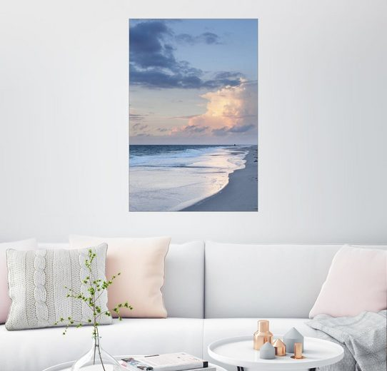 Posterlounge Wandbild, Sylt, Sonnenuntergang am Strand
