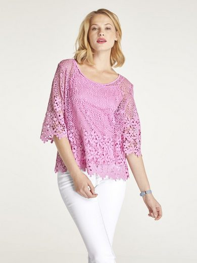 LINEA TESINI by Heine Spitzenbluse mit speratem Top