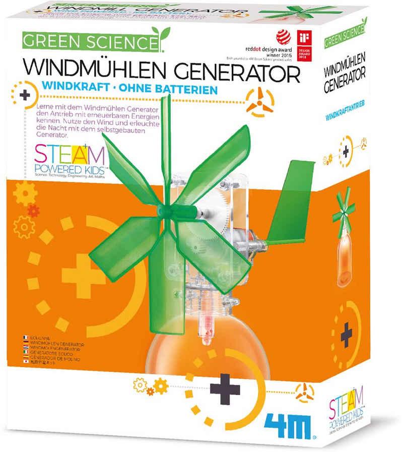 4M Experimentierkasten »Green Science - Windmühlen Generator«, zum Teil aus recyceltem Material