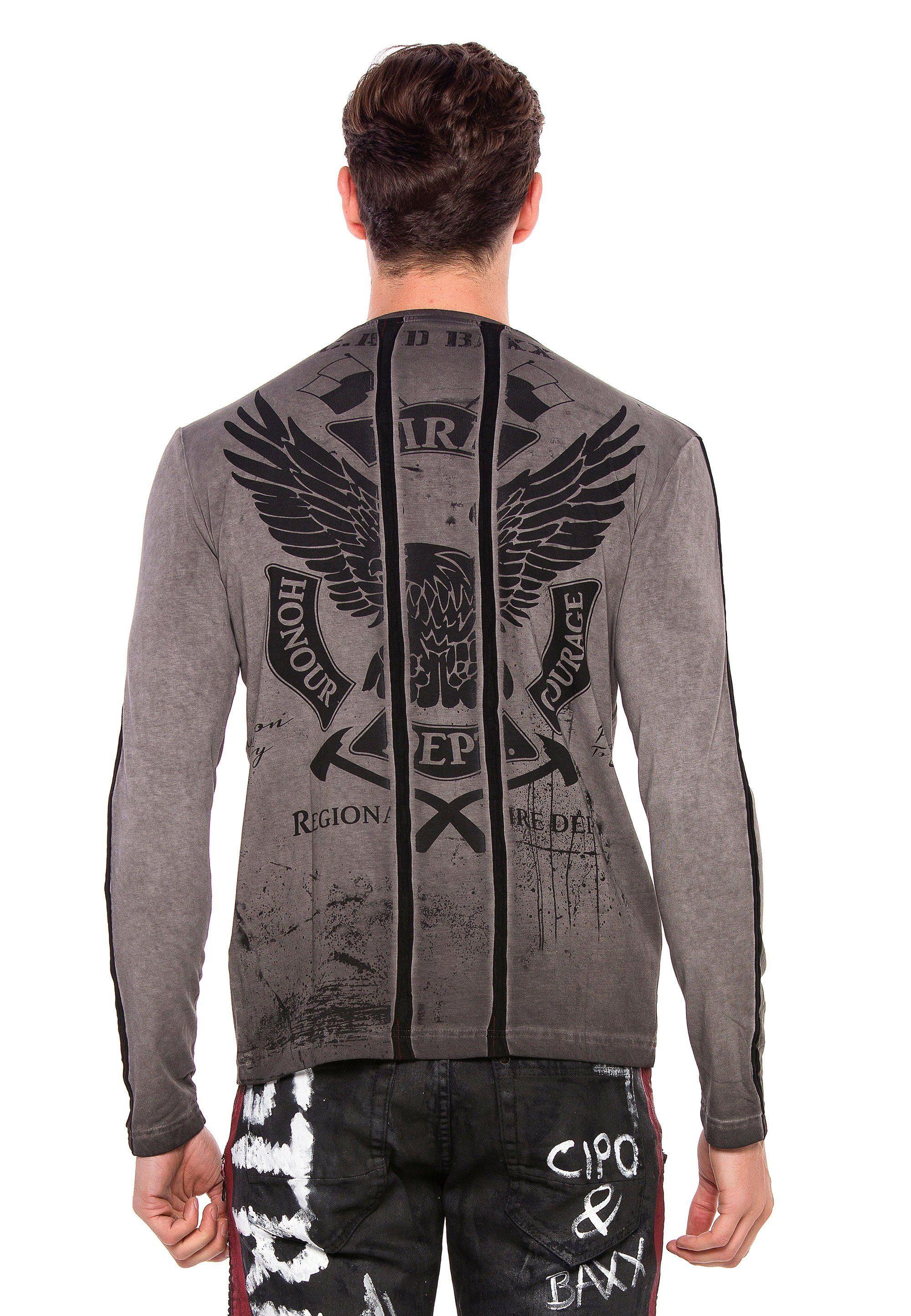 Cipo & Baxx Sweatshirt Ride Or Die im Antique Look
