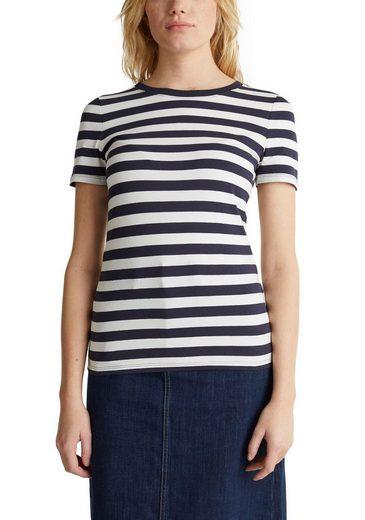 Esprit T-Shirt im allover Streifen-Dessin