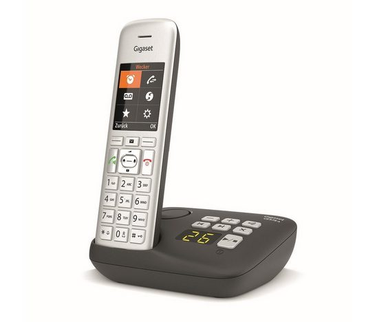 Gigaset »CE 575A« Festnetztelefon (Mobilteile: 2, Freisprechfunktion, Anruferliste, Anrufersperre, Hörgeräte kompatibel, Strahlungsarm)
