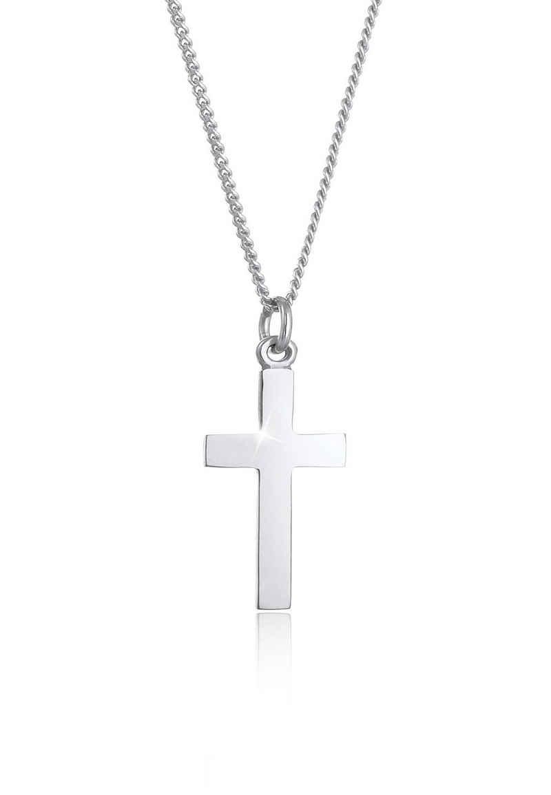 Elli Kette mit Anhänger »Kids Kreuz Symbol Kommunion 925 Silber«, Kreuz